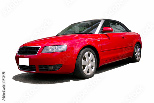 Foto op Canvas Snelle auto s red sports car