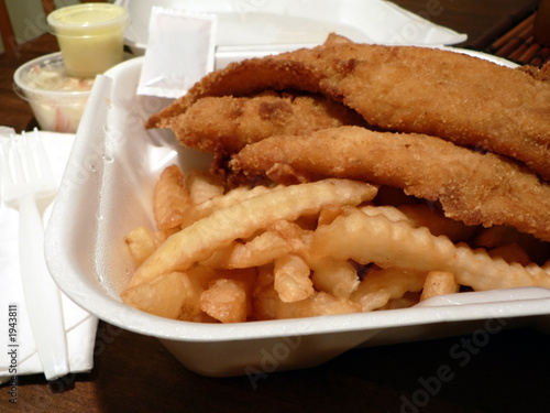 Fried whiting filet fish dinner stock photo and royalty for Fried fish dinner
