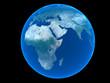 blue planet over black logo