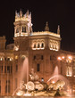 Quadro plaza de cibeles, madrid at night