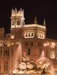 Quadro plaza de cibeles, madrid at night