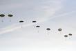 Leinwandbild Motiv skydivers