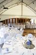 Leinwanddruck Bild - under a big tent during a wedding event