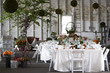 Leinwanddruck Bild - dining table set for a wedding or corporate event