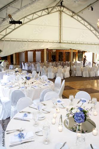 Leinwanddruck Bild under a big tent during a wedding event