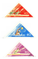 obsolete post stamps with water sports