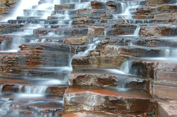 multiple layer waterfall in australia