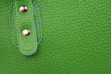 green leather bag poster