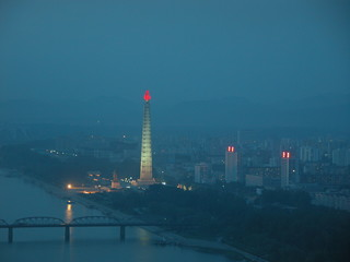 juche tower in pyongyang, north korea