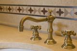 tile detail faucet bathroom