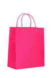 vibrant pink shopping bag poster