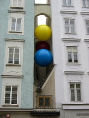 balls on a building