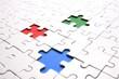 Leinwandbild Motiv puzzle rgb 3