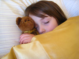 pretty young child sleeping poster