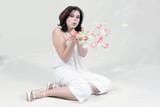 blowing petals poster