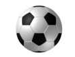 soccer ball isolated, black and white