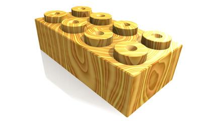 blocco lego in legno chiaro