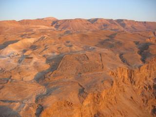 desert neguev depuis le site de massada en israel