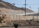 us-mexican national border fence poster