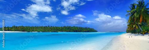 Leinwandbild Motiv panoramic lagoon iii