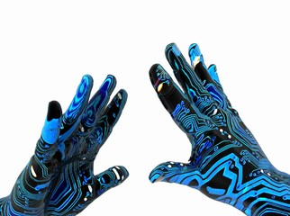 manos con chip