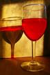 red wine in warm light