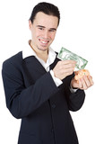 attractive young person businessman poster