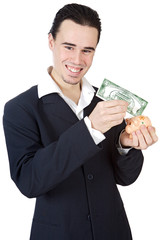 attractive young person businessman