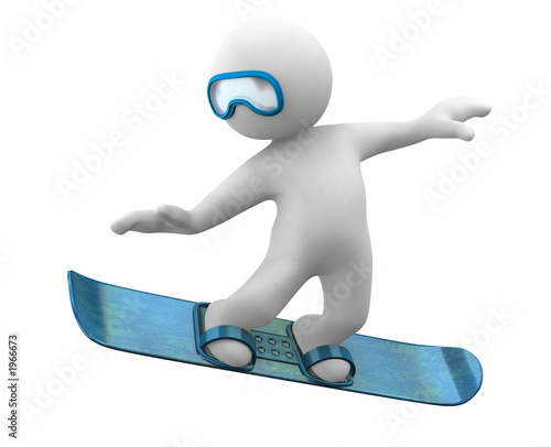 3d snowboard little human
