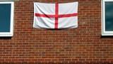 flag. england flag.symbol of patriotism poster