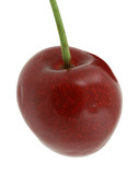 sweet cherry on pure white background poster