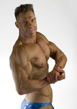 bodybuilder posing poster