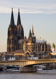 Fototapety sun on cologne cathedral