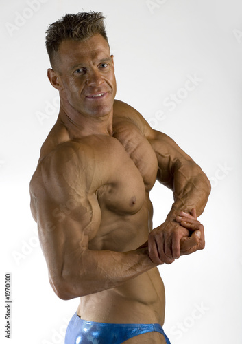 poster of bodybuilder posing