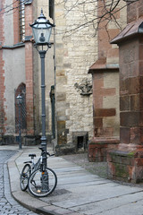 bike and street lamp