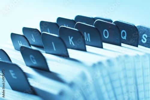 Leinwanddruck Bild alphabetic organizer