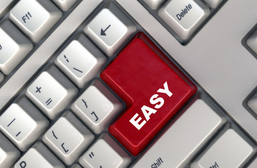 keyboard with -easy- button