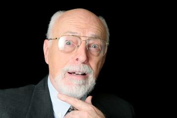 stock photo of surprised senior man