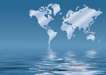 weltkarte, map of world