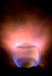 flaming baseball