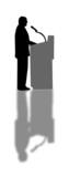 speech silhouette poster