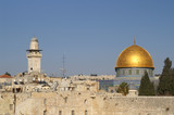 jerusalem old city - dome of the rock poster