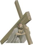 christ bearing the cross poster