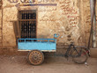 bicycle cart by old wall