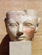 ancient figure at the temple of queen hatshepsut,