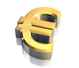 simbolo dell'euro a fondo bianco