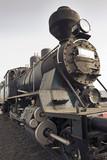 old steam locomotive. poster