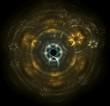 étoiles cercles fractale