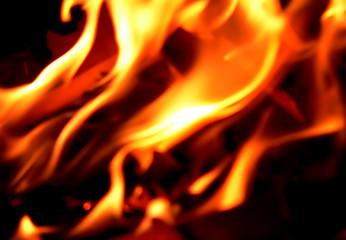 feu flamme en gros plan