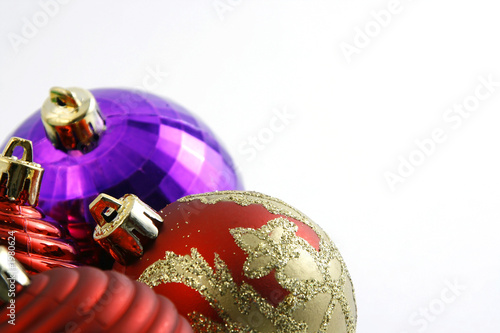 christmas ornaments with copy space for your text